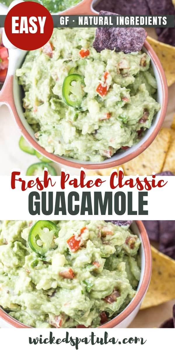 Classic Guacamole - Pinterest image