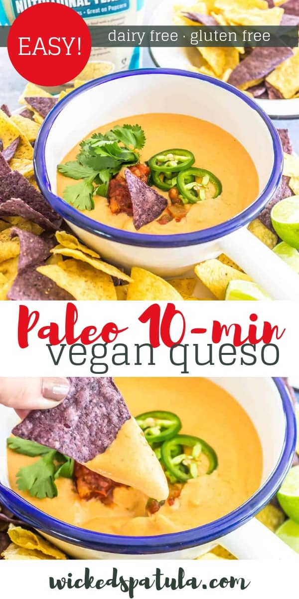 Vegan Queso - Pinterest image