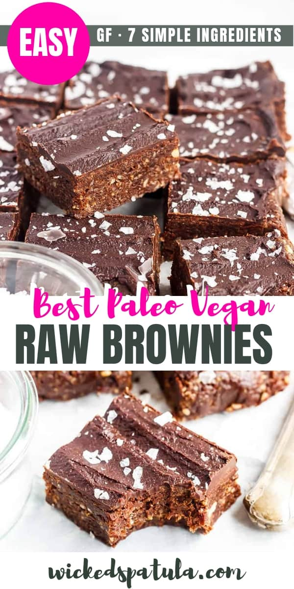 The Best Vegan Raw Brownies - Pinterest image