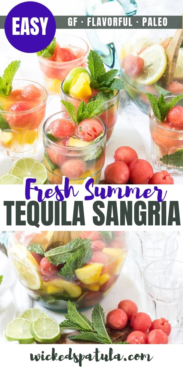 summer sangria recipe - for pinterest